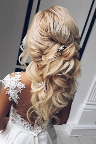 summer wedding hairstyles half up blond hair my wedmakeup
