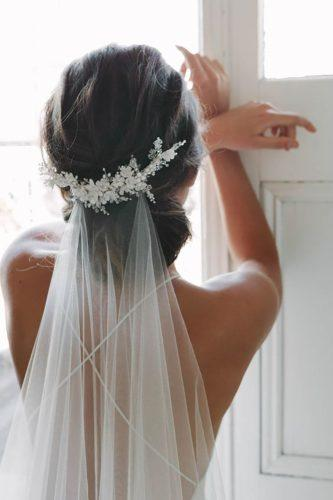 wedding hairstyles with the veil beautiful low updo