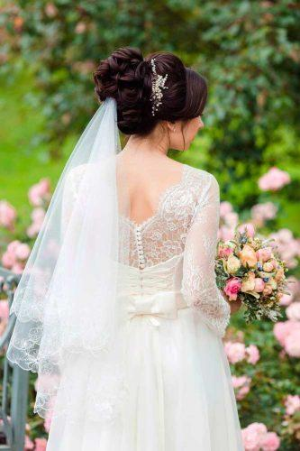 wedding hairstyles with veil 4