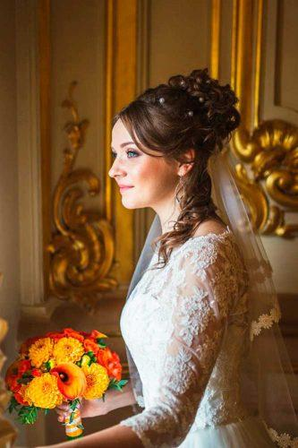 wedding hairstyles with veil 5