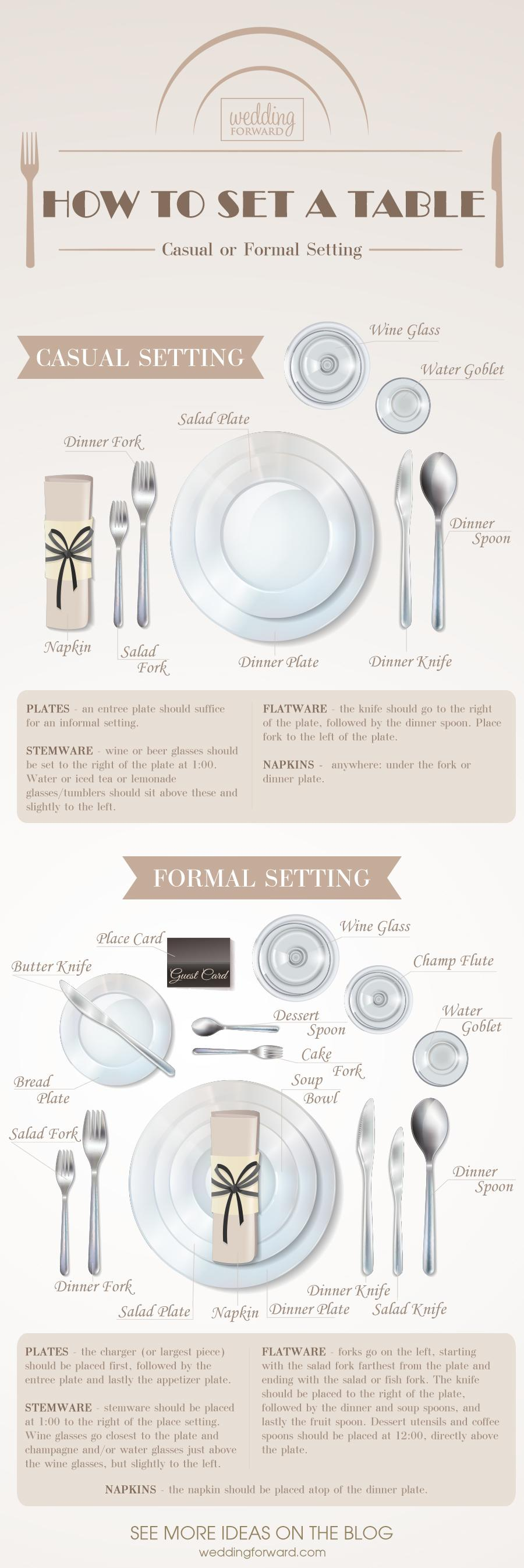 how to set a table casual formal setting wedding tips ideas