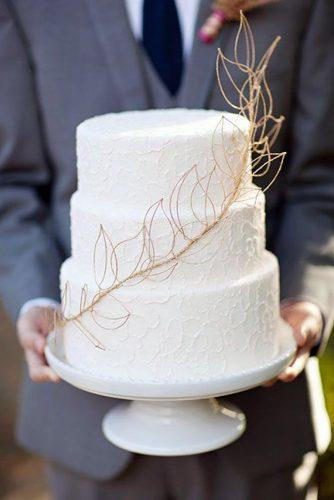 rustic wedding cakes white with gold brunch paperlily photography