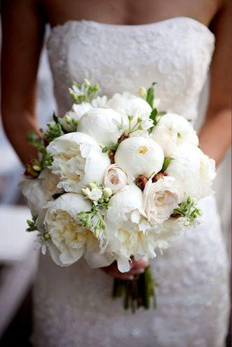 wedding bouquet with gorgeouse white peonies