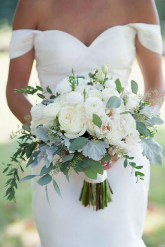 all white beautiful wedding bouquets