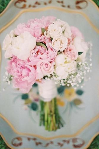 soft pink wedding bouquets to fall in love with ashley seawell photography
