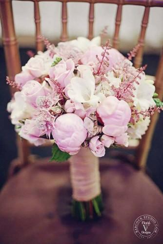 18 pink wedding bouquets to fall in love with 17