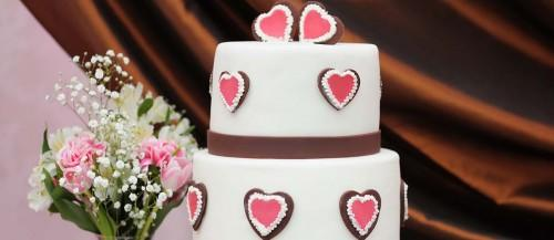 simple romantic wedding cakes