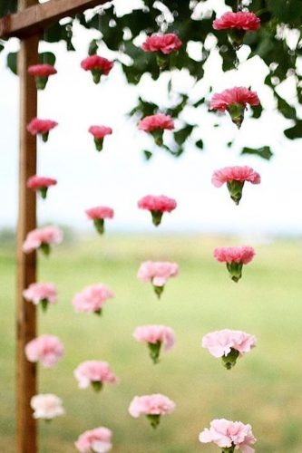 wedding arch decoration ideas details carnations indiagramwedding