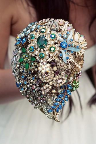 brooch bouquets with bling 17