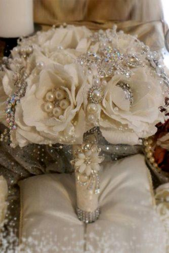 brooch wedding bouquets 1n