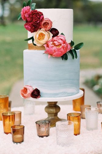 wedding cakes pictures blue marble with bright colors apryl dailey via instagram
