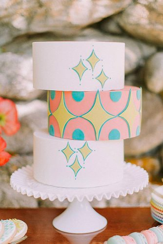 wedding cakes pictures unusual shape with patterns and stars j a m i e m e r c u r i o via instagram