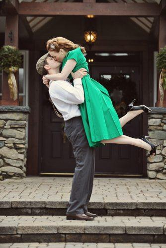 engagement photo ideas in 60th style casey connell photography via the knot
