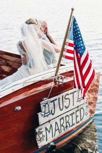 wedding exit photo ideas boat just mirred justinandmaryweddings