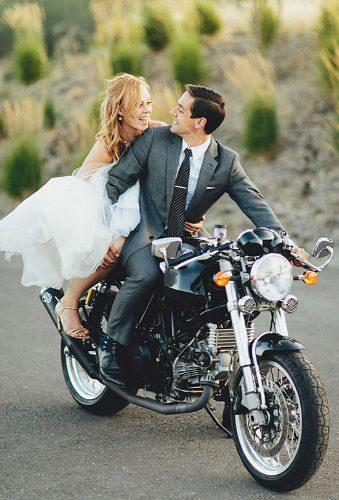 wedding exit photo ideas coach black motorcycle hughforte