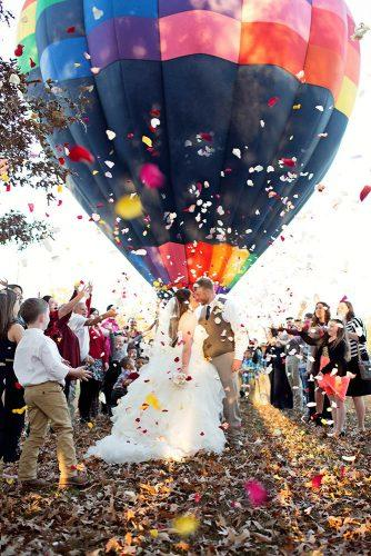 wedding exit photo ideas dark bright ballon Courtney Townsend Photography