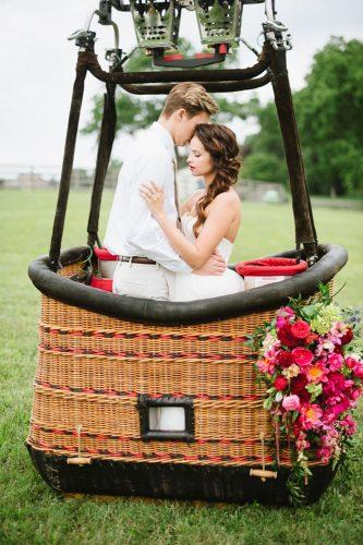 Ruffled photo by Natalie Franke http://ruffledblog.com/vintage hot air balloon wedding