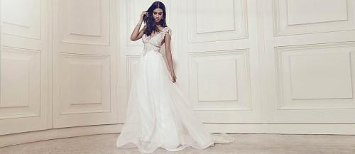 gossamer bridal dress