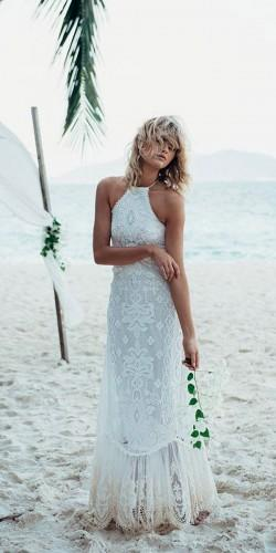 beach boho lace wedding dresses