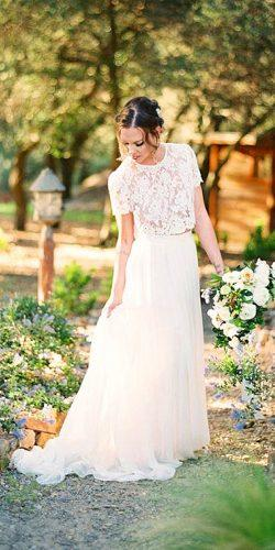beatiful two pieces wedding dresses 2
