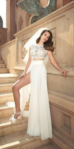 beatiful two pieces wedding dresses 5