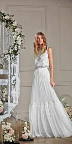 lace tulle skirt bridal separates with square neckline top needle and thread