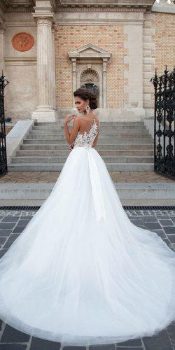 ball gown lace top illussion backless wedding dresses mila nova