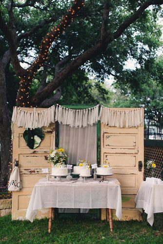old door wedding decoration at the dessert table vintage beige doors mike olbinski