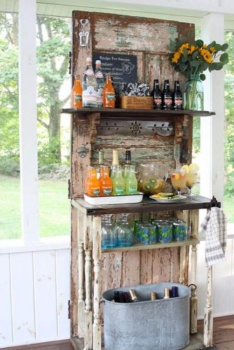 old door wedding decoration ideas stand for a bar based on an old door finding home farms