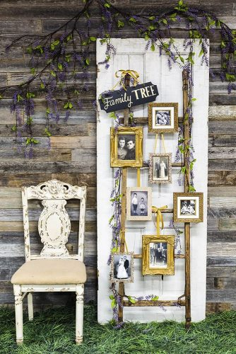old door wedding decoration vintage white wooden chair and door with a family tree hobby lobby