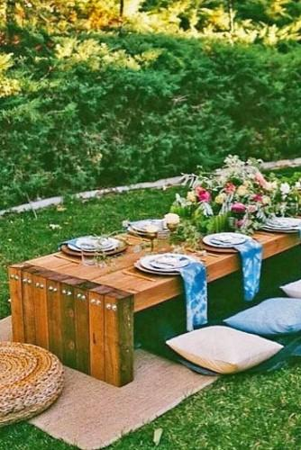 rustic wedding picnic 1