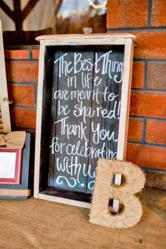 rustic wedding signs 1