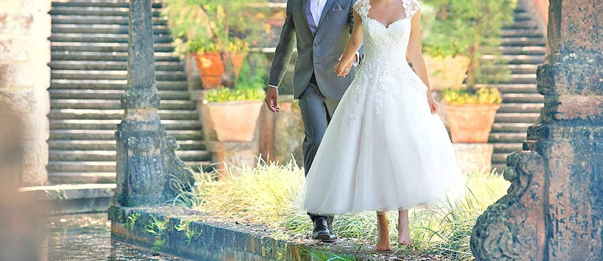 tea length wedding dresses featured