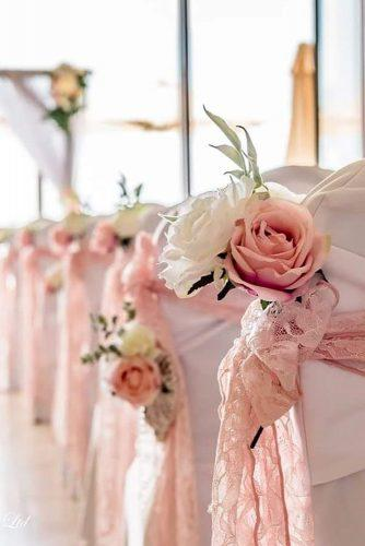 wedding aisle decoration ideas simple lace bow cyprusweddingtouches