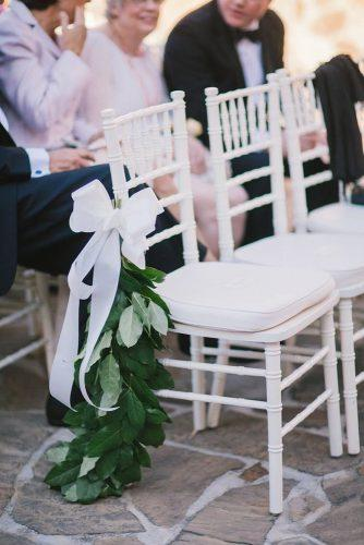 wedding aisle decoration ideas white bow By the Robinsons