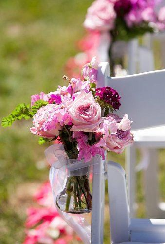 wedding aisle decoration ideas white chair pink rose gearhartphoto