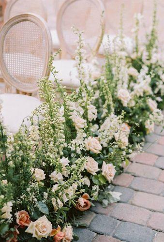 wedding aisle decoration ideas white chairs white flower hellogabyj