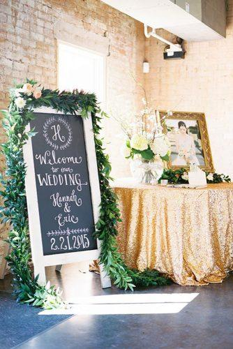 trendy wedding decor greenery gold ideas 3