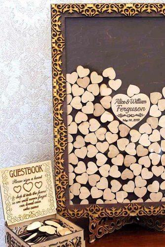 wedding guest book ideas frame