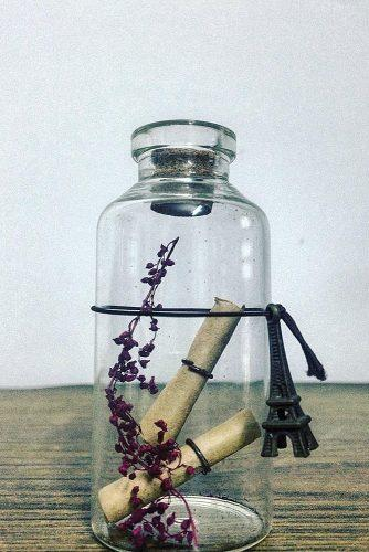 wedding guest book ideas message in the bottle