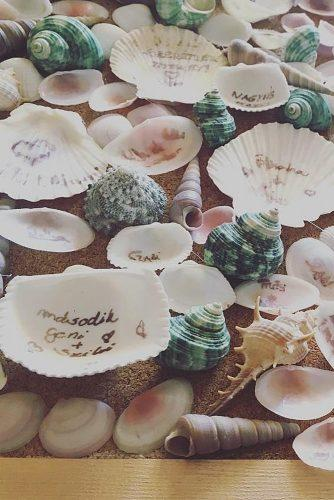 wedding guest book ideas seashell