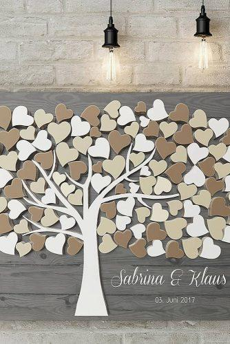 wedding guest book ideas tree wishes