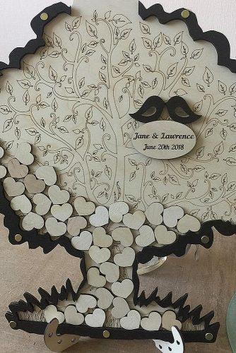 wedding guest book ideas wood tree
