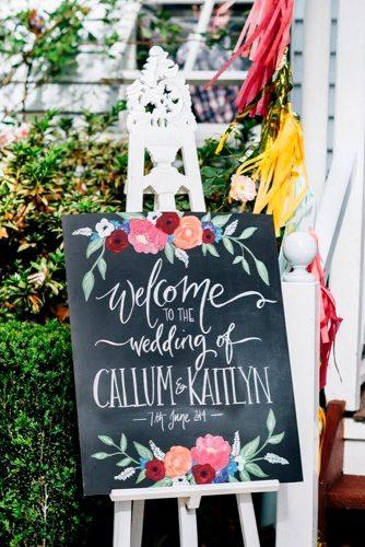 welcome rustic wedding signs blackboard on white stand