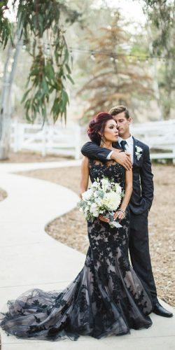 black lace wedding dress by Enzoani