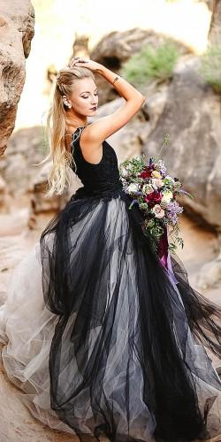 unique black wedding gowns for alternative bride 3