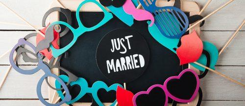 diy photo booth photo props for wedding