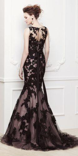enzoani black lace mermaid style wedding dress
