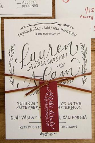 rustic wedding invitation 1