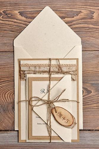rustic wedding invitations 1